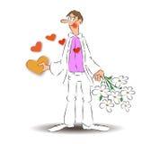 Ame al muchacho, amor pasa a través del estómago foto de archivo libre de regalías