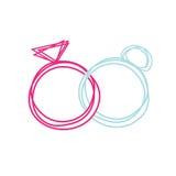 Ame anéis ilustração royalty free