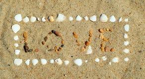 Ame a areia Foto de Stock Royalty Free