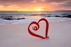 Ame el viaje, vacaciones del amor, amor Jervis Bay Fotografía de archivo libre de regalías