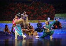 Ame en la primera luna del ballet de la vista-Hui sobre Helan Foto de archivo