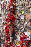 Ame fechamentos do coração em uma parede, Verona Foto de Stock