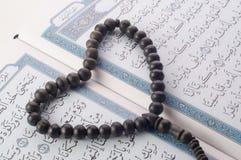 Ame la forma Tasbih (gotas) en Quran santo Fotografía de archivo libre de regalías