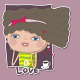 Ame a la muchacha Ilustración del Vector