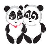 Ame la panda linda Fotos de archivo