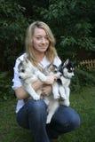 Ame meus filhotes de cachorro roncos Foto de Stock Royalty Free