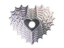 Ame mi casete de la bici en forma del corazón Imagen de archivo libre de regalías