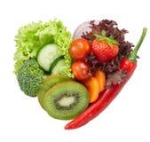 Ame o alimento do vegetariano imagens de stock