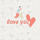Ame-o cartão Fotos de Stock Royalty Free