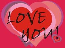 Ame-o cartão Fotografia de Stock
