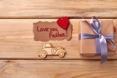 Ame-o cartão do pai fotos de stock royalty free