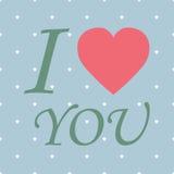AME o cartão feliz do dia de Valentim, tipo da fonte Fotos de Stock