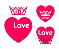AME o cartão feliz do dia de Valentim, tipo da fonte Foto de Stock Royalty Free