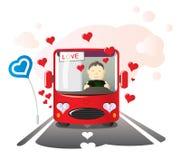 Ame o condutor de autocarro Fotografia de Stock Royalty Free