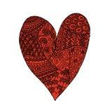 Ame, o coração do Valentim, esboço para seu projeto Fotos de Stock Royalty Free