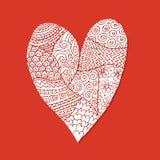 Ame, o coração do Valentim, esboço para seu projeto Foto de Stock Royalty Free