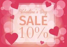 Ame o dia do ` s do Valentim do cartão do convite, mini coração cortado papel, rosa, brilho Quadro Dia da venda Ilustração do vet Foto de Stock