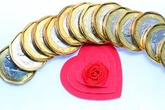 Ame o dinheiro Fotografia de Stock Royalty Free