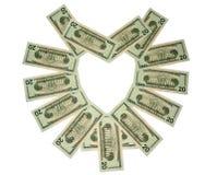 Ame o dinheiro Imagem de Stock Royalty Free