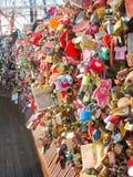Ame o fechamento & ame cadeado, torre de Seoul, Coreia do Sul fotos de stock royalty free