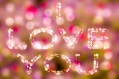 Ame o fundo do ` s do Valentim do bacground do bokeh do conceito do tema eu te amo Imagem de Stock Royalty Free