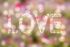 Ame o fundo do ` s do Valentim do bacground do bokeh do conceito do tema eu te amo Foto de Stock Royalty Free