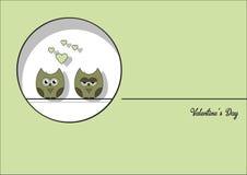 Ame o fundo do sumário do dia do ` s do Valentim do cartão do convite, forre o mini coração do corte, corujas do corte, corujas l Imagem de Stock