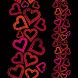 Ame o fundo sem emenda do tema, teste padrão sem emenda dos corações, vertica ilustração stock