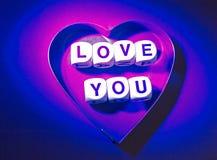 Ame-o mensagem. Foto de Stock