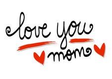 Ame-o rotulação da mamã ilustração royalty free