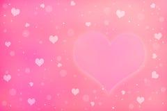 Ame o símbolo e os corações que penduram na corda Fotografia de Stock
