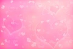 Ame o símbolo e os corações que penduram na corda Foto de Stock Royalty Free
