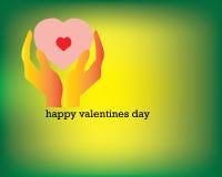 Ame o símbolo, verde do fundo, fundo verde Fotografia de Stock Royalty Free