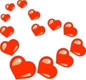 Ame o sinal dos corações Imagens de Stock Royalty Free