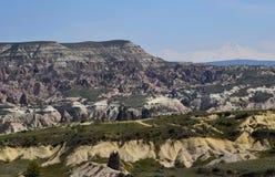 Ame o vale em Cappadocia, Goreme, Turquia fotografia de stock