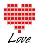 Ame o vetor do coração do Polaroid Fotos de Stock Royalty Free