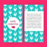 Ame para siempre el folleto azul del aviador con los cisnes blancos ilustración del vector