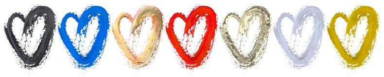 Ame a pintura no ícone do coração pintar o fundo Imagem de Stock Royalty Free