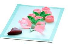 Ame pinturas vermelhas do amor da celebração do símbolo do dia do cumprimento do Valentim do ` s do Valentim do coração do cartão Fotos de Stock