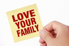 Ame sua família Imagem de Stock