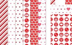 Ame testes padrões sem emenda temáticos para o dia do ` s do Valentim, os convites do casamento ou as decorações ilustração royalty free