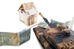 Ameaça aos valores europeus fotografia de stock royalty free