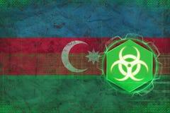Ameaça do biohazard de Azerbaijão Conceito da ameaça do vírus ilustração stock
