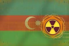 Ameaça radioativa de Azerbaijão Conceito do perigo da radiação ilustração do vetor