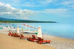 Amed海滩,巴厘岛,印度尼西亚 免版税图库摄影