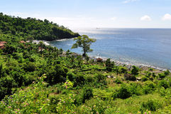 Amed bay in bali Royalty Free Stock Photos