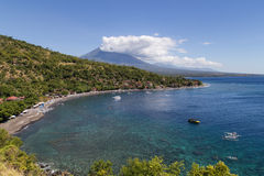 Amed Bay in Bali Royalty Free Stock Photo