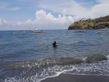 Amed-Strand, Bali Stockfotos