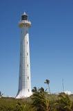 Amedee Island Lighthouse. White painted iron Amedee Island lighthouse in New Caledonia stock photo