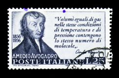 Amedeo Avogadro, столетие смерти serie Amedeo Avogadro стоковое фото